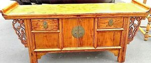 Antique Asian Style Low Table Used For Tea Coffee 48 D X 22 W X 14 H
