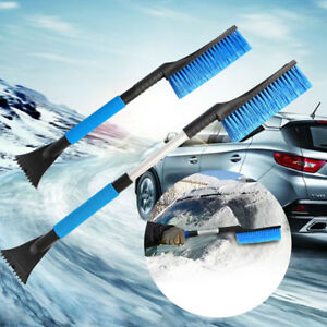 New Ice Scraper With Brush Car Windshield Snow Removal Frost Telescoping Broom