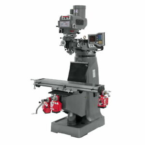 Jet 690418 Jtm 4vs Mill 3 axis Acu rite Vue Dro knee X Y Z axis Powerfeed