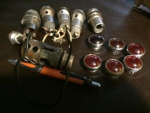 Hot Rod Rat Rod Group Of Vintage Dash Indicator Socket Lights