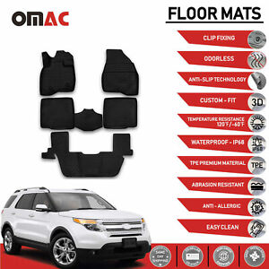 Ford Explorer Floor Mats Liner 3d Molded Fit Black Interior Protector Set 2015