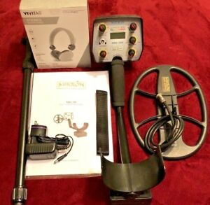 Mikron Nrg 150 Metal Detector Package 8 x11 Coil Headphones Charger Batteries