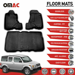 Honda Element Floor Mats Liner 3d Molded Fit Black 3 Pcs Set 2003 2011
