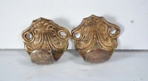 Antique Window Sash Pulls Brass Victorian Eastlake Pair A