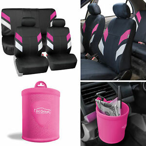 Neoprene Car Seat Covers For Auto Car Pink W Silicone Cup Holder