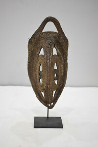 Papua New Guinea Mask Abelam Yam Woven Headdress Ceremonial Harvest Mask