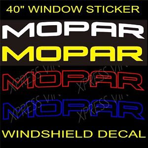 Mopar Dodge Graphic Windshield Vinyl Decal Sticker Vehicle Window Car Truck Srt