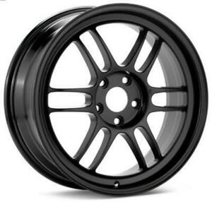 Enkei Rpf1 Wheel 15x8 4x100 28mm Offset 75mm Bore Black 3795804928bk