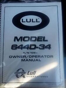 Lull 644d 34 Reach Forklift Operators Safety Manual Still In Factory Package