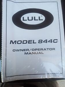 Lull 844c Reach Forklift Owner Operators Manual Still In Factory Package