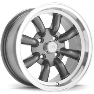 4 new 15 Inch Konig 35a Rewind 15x7 4x100 20mm Graphite Wheels Rims