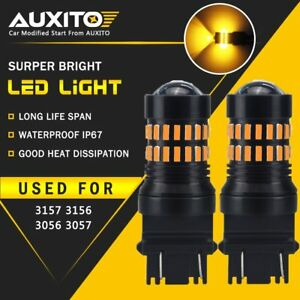 2x Auxito Turn Signal Light 3156 3157a Amber Led Bulb 48smd For Chevy Silverado
