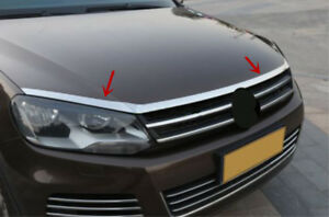 Stainless Steel Outer Front Hood Grill Bonnet Cover Replace For Touareg 2011 17