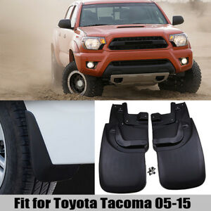 Splash Guards Mud Flaps Universal For Toyota Tacoma 05 15 Mudguards Front Rear