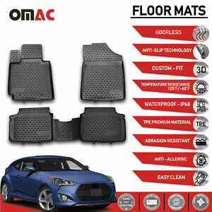 Floor Mats Liner 3d Molded Fit Interior Protector For Hyundai Veloster 2012 2017