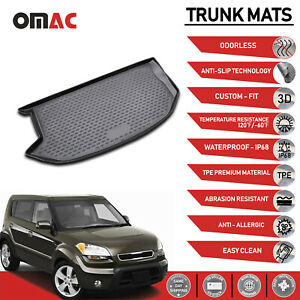 Cargo Liner Trunk Floor Mat Black 3d Molded Fits For Kia Soul 2010 2013