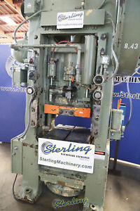 100 Ton X 5 Used Minster Straight Side Single Crank Press With Cushion S1 100 2
