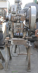 10 Ton X 1 Used Perkins Obi Mechanical Punch Press 2a A1957