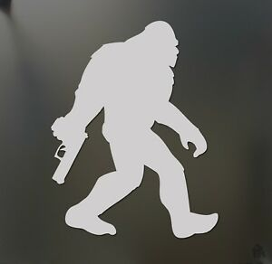 Sasquatch Mountain Tactical Sticker Jdm Funny America Gun Car Window Decal