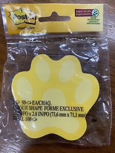 2x 50ct Post it Notes Super Sticky Puppy Paws Dog Yellow Gray Blue 3 X 3 3m
