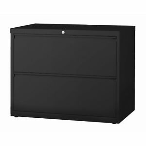 8000 Series 36 Wide 2 drawer Lateral File Cabinet Black