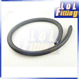 10an An10 Black Nylon Cover Braided 1500 Psi Gas Oil Fuel Line Hose 1m 3 3ft