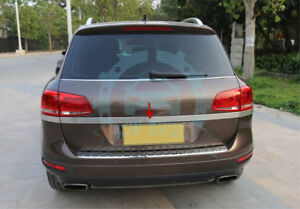Stainless Steel Outer Rear Trunk Boot Lid Cover Strip Trim For Touareg 2011 2017