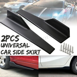 Universal Car Side Skirt Extension Rocker Splitters Winglet Wing Canard Diffuser