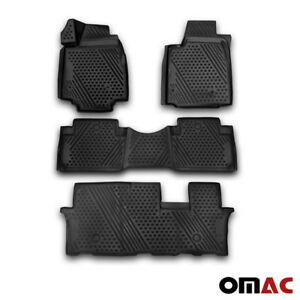 Honda Pilot Floor Mats Liner 3d Molded Fit Black Interior Protector 2009 2015