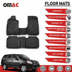 Floor Mats Liner 3d Molded Black Fits For Honda Cr V 2002 2006