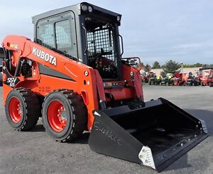 Genuine Kubota Ssv65 Enclosed Cab 2 Speed Wheeled Skidsteer Skid Steer Loader