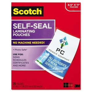 Scotch Self sealing Laminating Pouches 9 5 Mil 9 3 10 X 11 4 5 25 pack