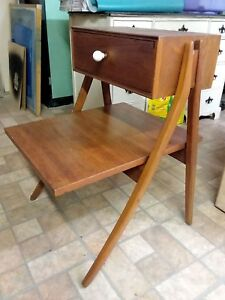 Mid Century Modern Kipp Stewart Drexel Declaration One Nightstand Table
