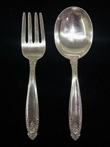 International Silver Prelude Sterling Baby Fork Spoon Set Infant Child Youth