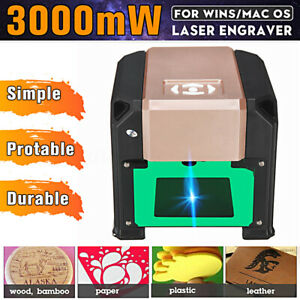 3000mw Desktop Laser Engraving Machine Diy Logo Marking Printer Win macos System