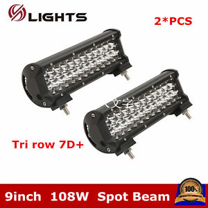 17inch 108w Led Light Bar Combo Fog Driving For Jeep Boat Suv Atv wiring Kit 16
