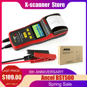 Ancel Bst500 12v 24v Auto Heavy Truck Battery Charge System Tester As Ba101