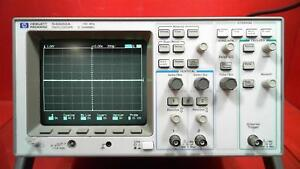 Hp Agilent 54600a Oscilloscope 2 Channels 100mhz S n 3227a08315
