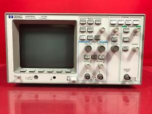 Hp 54600a Oscilloscope 100mhz 2 Channel S n 3134a06048