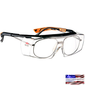 Safety Work Over Glasses Clear Lens Side Shields Anti Scratch Eye Protection