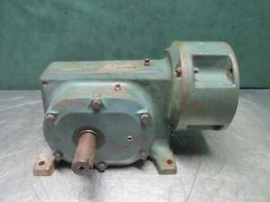 Reliance Electric 56cm16a Gear Reduction Box Speed Reducer Gearbox 101 1 Ratio