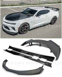 Eos For 16 18 Camaro Ss Zl1 1le Style Front Lip Side Skirts Rear Spolier