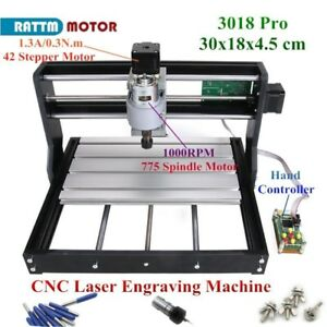 Cnc Mini 3018 Pro Desktop Cutter Engraver Diy Grbl Pcb Wood Router Laser Machine