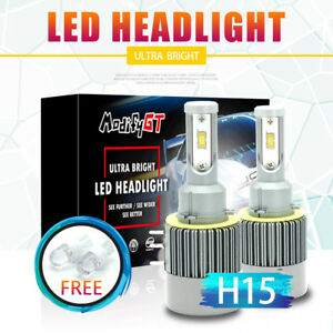 Led Car Headlight H15 18400lm 260w Kit High Low Beam Replace Halogen Xenon