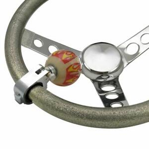 American Shifter Ascba11001 Ivory Flame Suicide Brody Knob Opaque