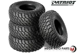 4 X New Patriot Mt 37x12 50r17lt 10p 131q All Terrain Mud Tires