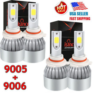 4x 9006 9005 Cree Led Headlight 2800w 420000lm Hi Low Beam Combo 6000k Vs Hid Us