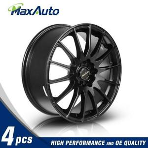 4pc 17x7 Wheel 45 Offset 5x100 5x114 3 Rims For Ford Mustang For Jeep Liberty