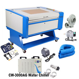 60w Co2 Usb Laser Engraving cutting Machine 700x500mm Cw 3000ag Water Chiller