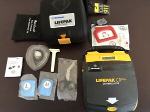 Lifepak Cr Plus Defibrillator With Current Battery Pads Case And Ambu Kit